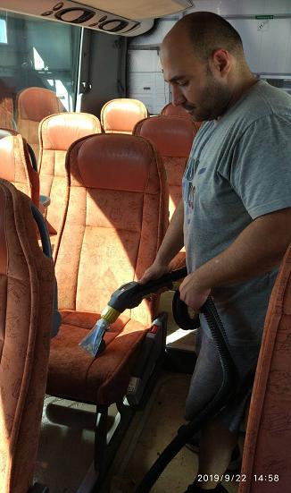 пране на автобусни седалки бургас